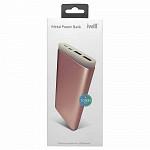 Bateria Portátil Metal Power Bank 10000mAh Rose
