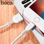 Cabo Lightning para USB em TPE com 1m Branco - hoco. X20