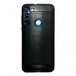 Carbon Fiber para Moto G8 - Capa Antichoque Preta