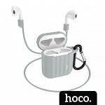 Capa para AirPods® Case com Alça Cinza - hoco. WB10