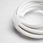 Cabo USB-C para USB-C Hard Cable em Poliéster Branco