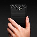 Carbon Fiber para Galaxy J5 Prime - Capa Antichoque Preta