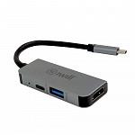 Hub USB-C Mini - Adaptador 3 em 1: HDMI, USB, USB-C