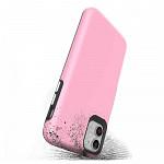 Double Lux Case para iPhone 12 / 12 Pro Rosa - Capa Antichoque Dupla