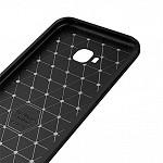 Carbon Fiber para Zenfone 4 Selfie 5.5 - Capa Antichoque Preta