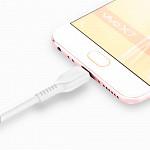 Cabo Micro USB para USB em TPE com 2m Branco - hoco. X20