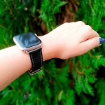 Pulseira para Apple Watch® WatchBand  - Couro Preta 42/44mm