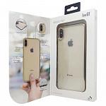 Metallic Shell para iPhone Xs Max Dourada - Capa Protetora com Bordas Metalizadas
