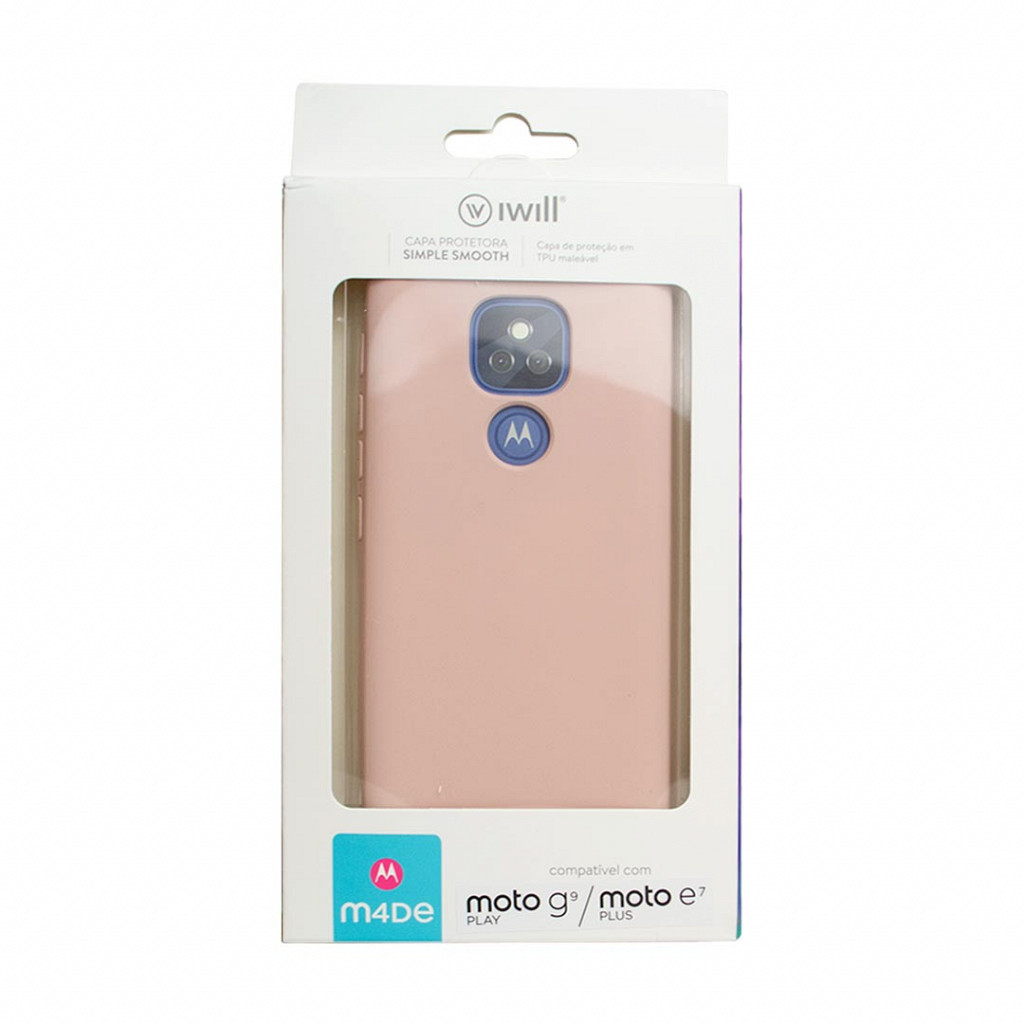 Simple Smooth Case para Moto G9 Play / E7 Plus - Rose