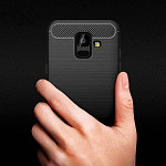 Carbon Fiber para Galaxy A6 2018 - Capa Antichoque Preta