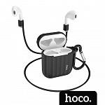 Capa para AirPods® Case com Alça Preta - hoco. WB10