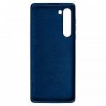 Simple Smooth Case para Motorola Edge Azul Meia Noite - Capa Protetora