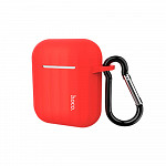 Capa para AirPods® Case com Alça Vermelha - hoco. WB10