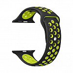 Pulseira para Apple Watch® WatchBand - Silicone Sport Preta com Verde 38/40mm