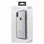 Metallic Shell para iPhone X e XS Prata - Capa Protetora com Bordas Metalizadas