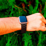 Pulseira para Apple Watch® WatchBand - Aço Inoxidável Preta 42/44mm