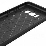 Carbon Fiber para Galaxy S8 Plus - Capa Antichoque Preta