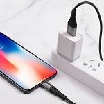 Cabo Lightning para USB com Conector Metálico 1m Preto - hoco. X38