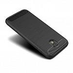 Carbon Fiber para Galaxy J5 PRO - Capa Antichoque Preta