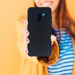 Duall Basics para Galaxy A6 2018 Plus Preta - Capa Antichoque