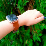 Pulseira para Apple Watch® WatchBand  - Couro Marrom 42/44mm