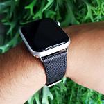 Pulseira para Apple Watch® WatchBand  - Couro Texturizado Preto 38/40mm