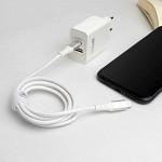 Cabo MFi para USB-C Hard Cable em Nylon Branco