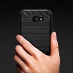 Carbon Fiber para Galaxy A7 2017 - Capa Antichoque Preta