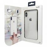 Metallic Shell para iPhone Xs Max Prata - Capa Protetora com Bordas Metalizadas